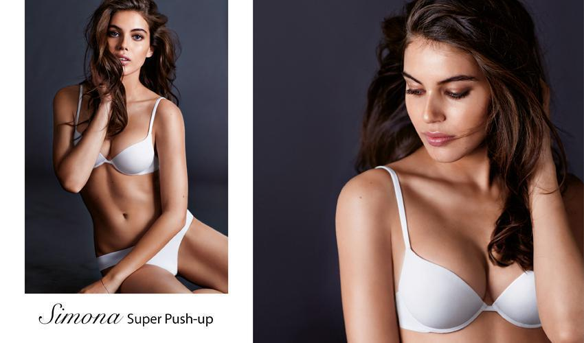 SIMONA  This is a seamless push-up bra with a super padded cup which is  extremely soft and comfortable. It lifts and enhances your cleavage for a  dramatic ... 77073e5936f