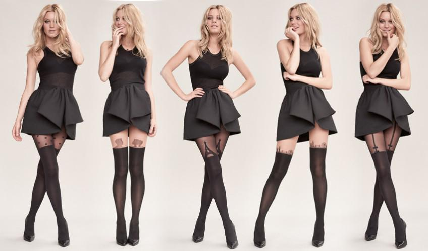 Girl in stockings nere presentazione - 3 4